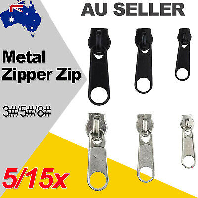 5/15x Metal Fix Zip Zipper Slider Durable Rescue Easy Repair Replacement Kit AU