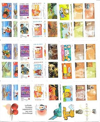 FRANCE : 10 CARNETS DE TIMBRES PRIORITAIRES 20g AUTOCOLLANTS FACIALE 122,96 €