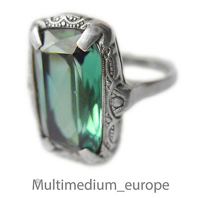 Art Deco Silber Ring turmalin farbener Spinell silver ring tourmaline color
