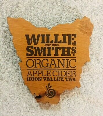 RARE Willie Smiths Taz Cider Craft Tap Beer Decal Tops Badges, Topper, Mancave