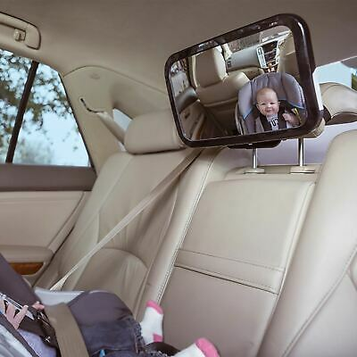 Large Adjustable Baby Child Car Safety Mirror Rear View Mirror Headrest Mount