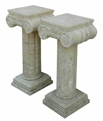 Column in Travertine and Marble Style Classic Aniques Old Table