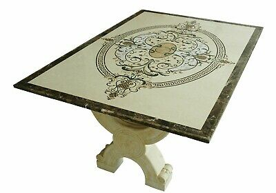 Bases in Marble Yellow Egypt for Table Finely Decorated Marble Table Bases Old