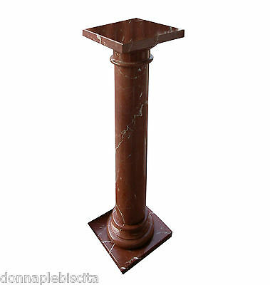 Column Marble Red Collemandina Antiques Classic Design Vintage Marble Column