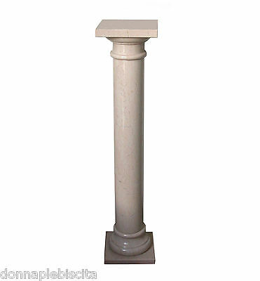 Column in Marble Botticino Antiques Classic Design Vintage Old Marble Column