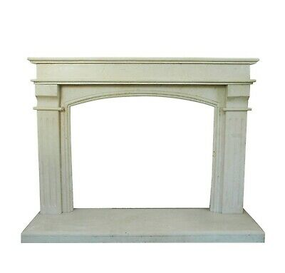 Fireplace Classic White Marble Stone Old