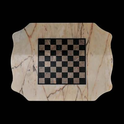 Chess Table in Marble Italian Classic Marble Table Chess Board 70x60cm