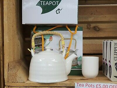 Herbal Teapot Sets Oriental Style Cups Ceramic Metal Strainer Pot Gift