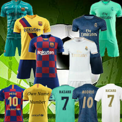 New Youth Kit Kids Boys Soccer Training Strip Sports Full Outfit