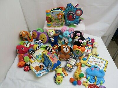 Large Lot Of Baby Infant Toys  Crib Stroller Toys Nursery Rhymes Musical Toys