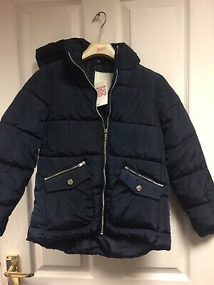 Gorgeous New Girls Navy Matalan Jacket With Hood Age 9 Yrs £18 Tag