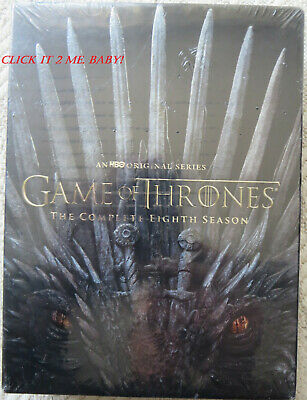 Game of Thrones: The Complete EIGHTH Season 8 (DVD, 2019, 4-Disc Set) NEW SEALED
