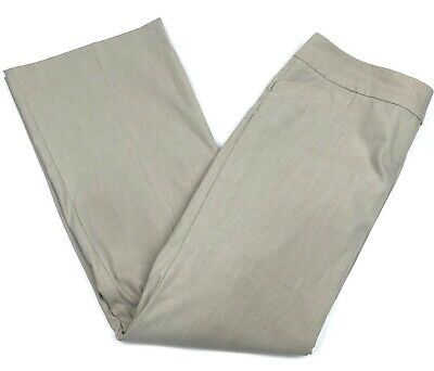 The Limited Womens 10 Drew Fit Dress Pants Beige Tan Bootcut Flare Leg Career