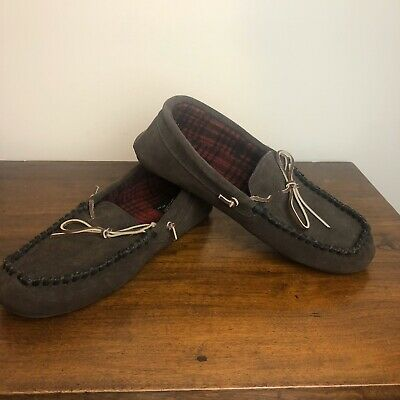 Woolrich Kirkwood Mens 11M Leather Slipper w/ Flannel Interior,