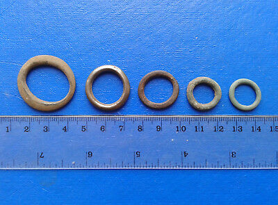 lot of 5 Celtic bronze ring-money, 5th-1st cent BC. №28