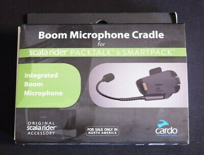 Cardo Unisex-Adult Boom Microphone Cradle for PackTalk and SmartPack Systems Black Single Pack scala rider SPPT0002