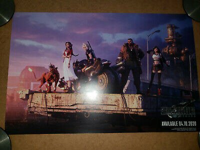 Pax East 2020 Final Fantasy VII 7 Remake Double Sided Poster Cloud 11X17
