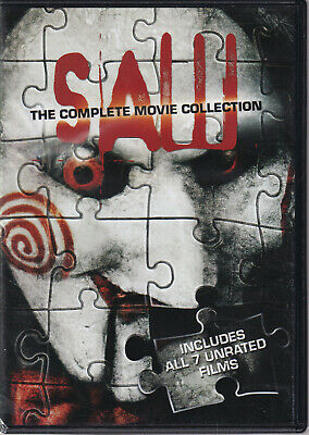 SAW: The Complete Movie Collection (DVD, 2017, 4-Disc Set, Canadian) (T4)