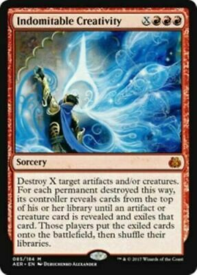 English x1 Indomitable Creativity Foil MTG Aether Revolt M M//NM