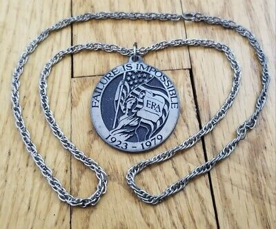 Equal Rights Amendment 1923-1979 Judith Meuli Pendant Failure is Impossible RARE