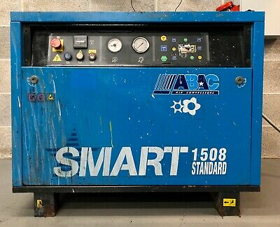 ABAC Smart 1508 Floor Mounted Rotary Screw Compressor, 11Kw, 8Bar, 63.5Cfm!