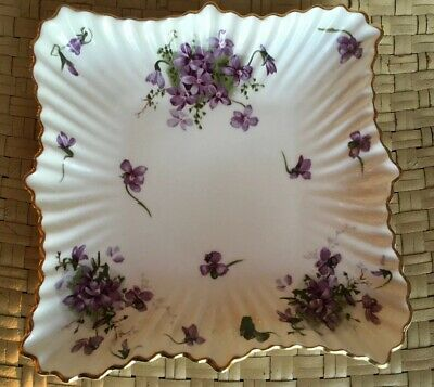 Hammersley Victorian Violets Bone China Large Candy Dish