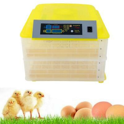 96 Chicken Eggs Incubator Automatic Hatcher LED Temperature Humidity Digital
