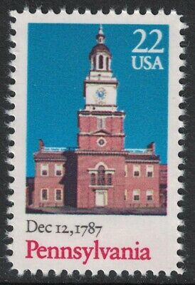 Scott 2337- Pennsylvania Statehood, Independence- MNH 1987- unused mint stamp