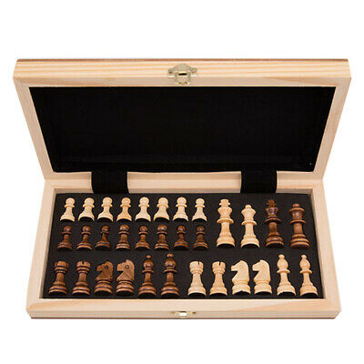 Small/Large Chess Wooden Set Folding Chessboard Magnetic Pieces Wood Board Gifts
