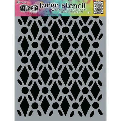 Dylusions Stencil - Large 9x12 - Fancy Floor - NEW!