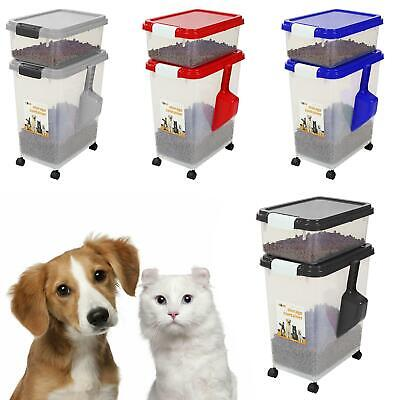 3 Piece Airtight Large Pet Dog Cat Animal Plastic Food Storage Containers Feed