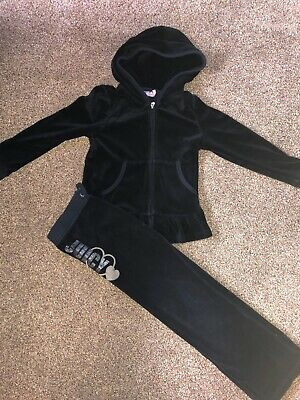 juicy couture girls Black tracksuit Age 6 Years 💖 Vgc