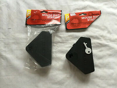 2 NEW Pest Stop Mouse Lockable Bait Station For Safe Dispensing of Mouse Bait