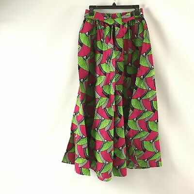 Womens Long Maxi Ankara African Print Skirt Traditional Elastic Waist One Size