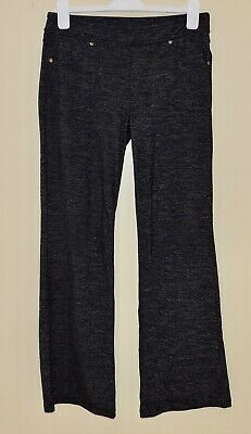 ATHLETA BETTONA CLASSIC Sz Medium Gray Heather Elastic Waist Legging Pants EXC