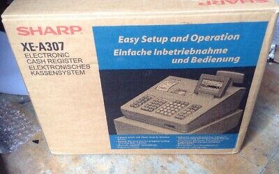 SHARP XE-A307 Electronic Cash Register Complete In Original Box And Free P&P