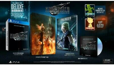 PREORDINE Final Fantasy VII Remake Deluxe Edition UK PS4 NUOVO SIGILLATO