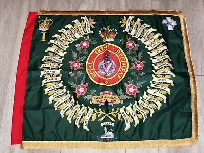 Royal inniskilling fusiliers 9th Tyrones Kings colours ceremonial flag