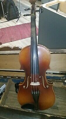 Antique violin, With Bow, & old Wooden Case and a note from the original owner