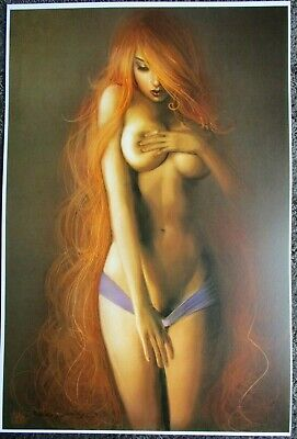 Nathan Szerdy Signed 12X18 Art Print Starfire The New Teen Titans Risque Topless