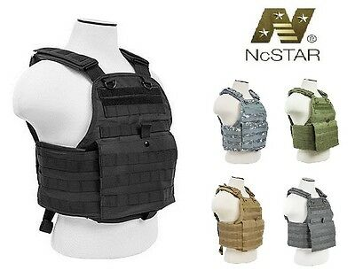 NcSTAR Tactical Vest Plate Carrier Molle Body Armor Military Police Assault