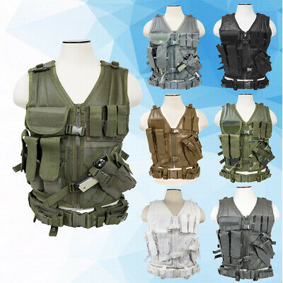 VISM Tactical Vest Cross Draw Molle Combat Hunting Size XS - 2XL+ Multicolor