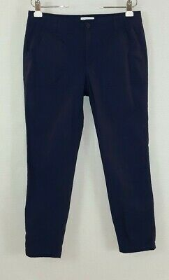 Liz Claiborne women's size 8 blue stretch cotton midrise tapered Ankle pants