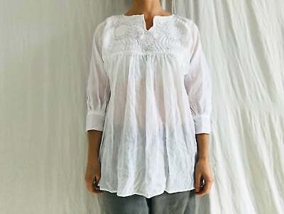 Hand-Embroidered Chamula Blouse. All Cotton