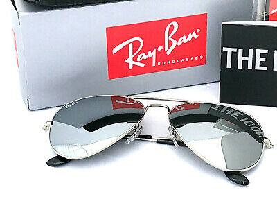 Ray-Ban Aviator Silver Mirror Sunglasses With Silver Frame Rayban Rb3025 Size 58