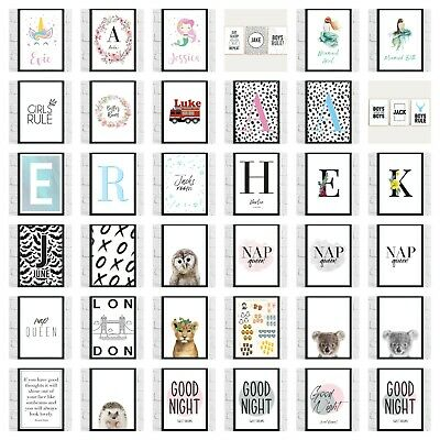 Bedroom Nursery Childrens Wall Art Prints Quotes Animals Pictures Home Gift