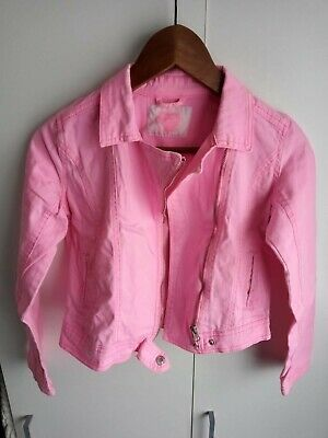 Girls 11/12y Demin Pink Jacket