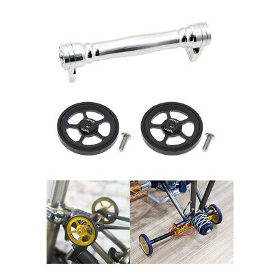 Folding bike alloy easy wheel extension telescopic lever for brompton 65g 1pcs