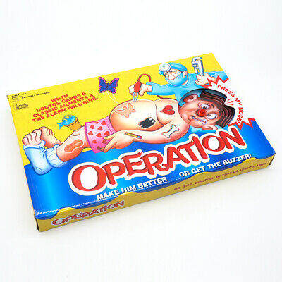 Operation Board Game Classic with Cards Electirc Tweezer Kids Toy 1-3 Persons