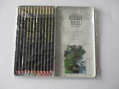 151 Series 12 Artists Watercolour Pencils - Brand New And Sealed